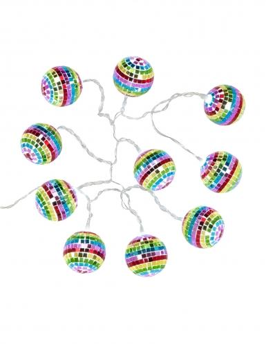 Ghirlanda luminosa sfere disco multicolor