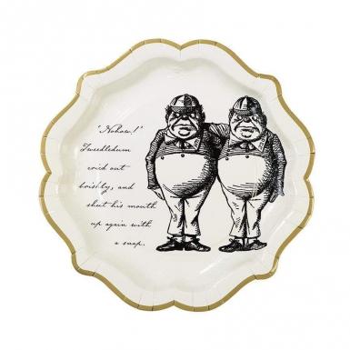 12 piatti in cartone Alice nel paese immaginario 23 cm-3