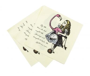 20 tovaglioli di carta Alice nel paese immaginario-1