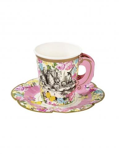 12 tazze in cartone Alice nel paese immaginario