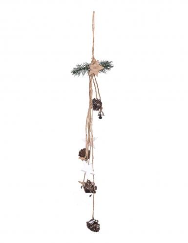 Sospensione in corda con pigne naturali