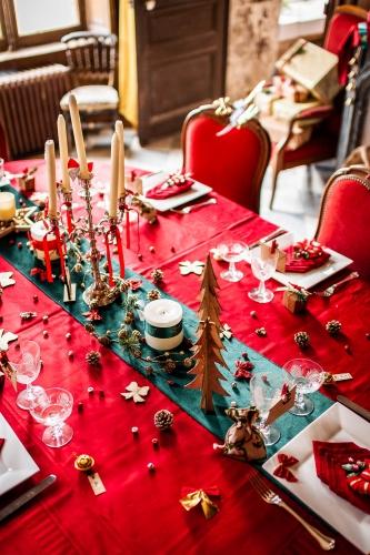 23 piccole decorazioni natalizie per la tavola brillantini oro-2