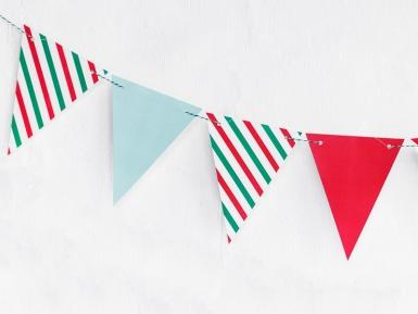 Ghirlanda di bandierine colori di Natale-1