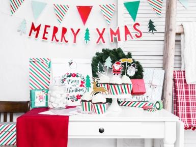Ghirlanda di bandierine colori di Natale-2
