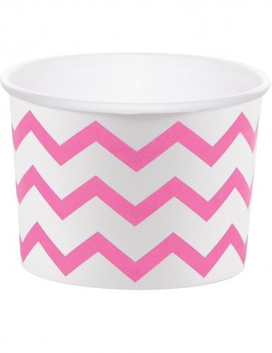 6 pirottini per cupcakes in cartone zig zag rosa scuro