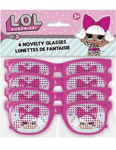 4 paia di occhiali rosa LOL Surprise™