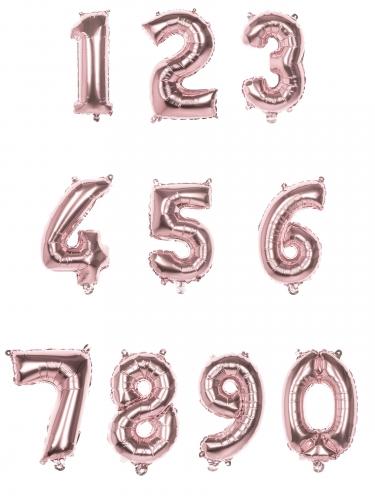 Palloncino alluminio numero rosa metallizzato-1