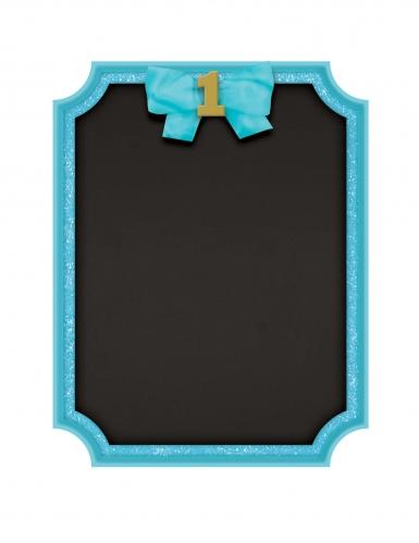 Cornice con lavagnetta blu 1° compleanno