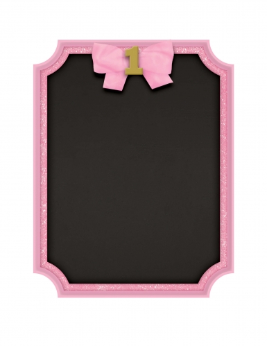 Cornice rosa con lavagna 1° compleanno
