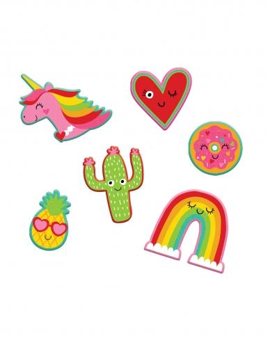 6 adesivi motivi colorati