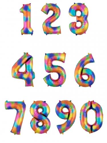 Palloncino alluminio color arcobaleno numero-1