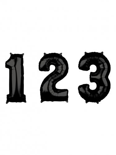 Palloncino di alluminio nero numero