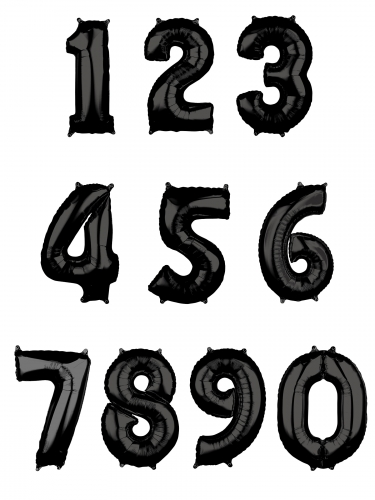 Palloncino di alluminio nero numero-1