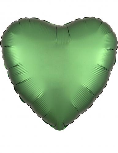 Palloncino alluminio cuore verde smeraldo