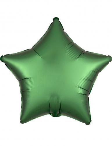 Palloncino alluminio stella verde smeraldo