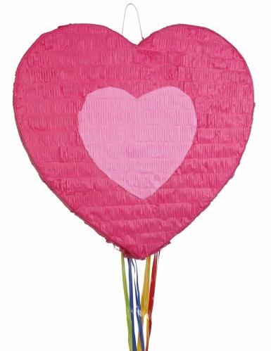 Pignatta a forma di cuore rosa