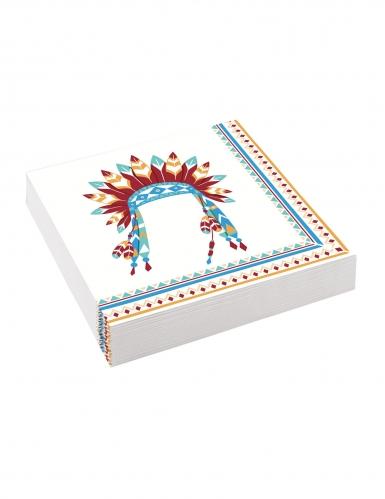 20 tovaglioli di carta tribù indiani