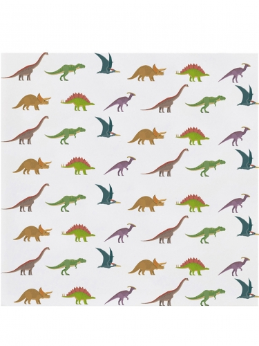 20 mini tovaglioli di carta grandi dinosauri