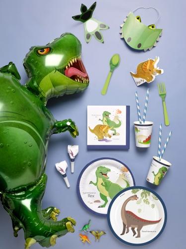 8 inviti per festa con buste grandi dinosauri-1