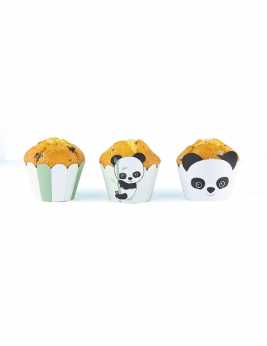 6 decorazioni per cupcakes panda