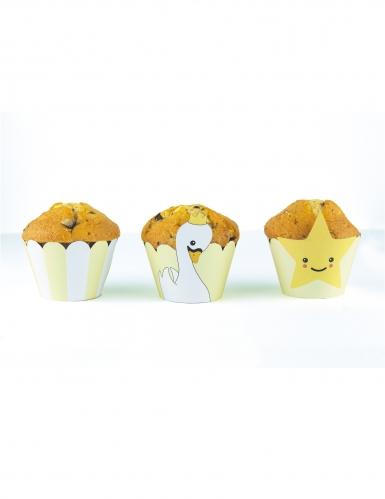 6 decorazioni per cupcakes baby cigni
