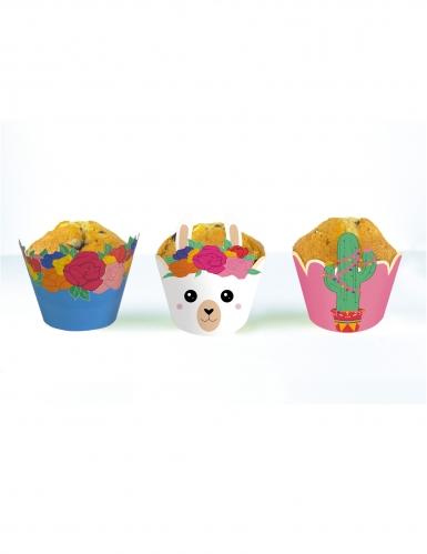 6 decorazioni per cupcakes lama
