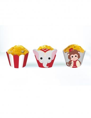 6 decorazioni per cupcakes Vintage Circus