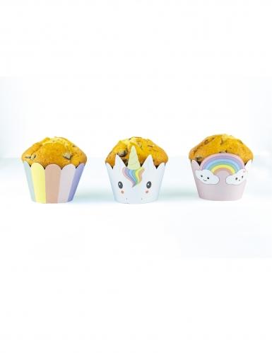 6 decorazioni per cupcakes baby unicorno