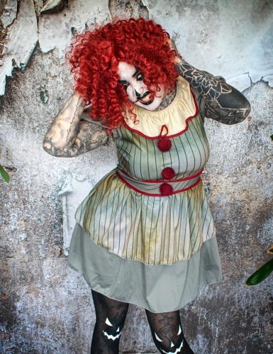 Costume clown psicopatico donna -3