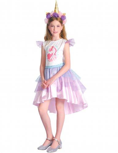 Costume unicorno rosa bambina