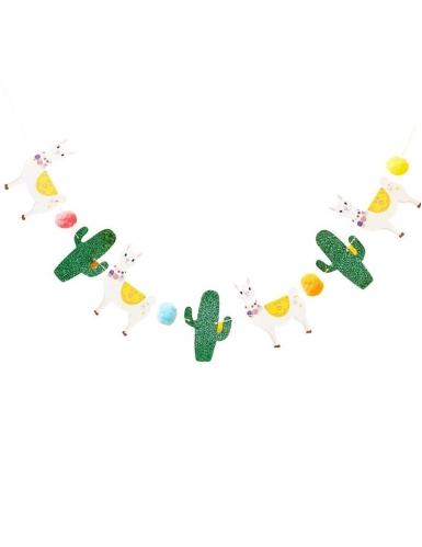 Ghirlanda in cartone lama e cactus