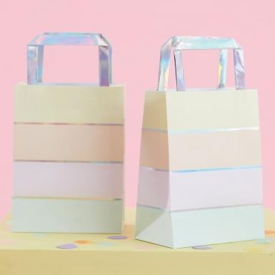 5 sacchetti regalo in carta righe pastello-1