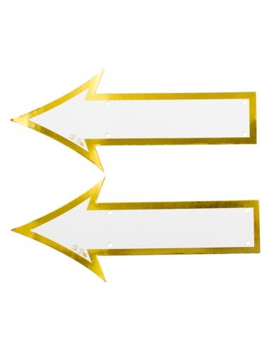 2 frecce in cartone bianco e oro