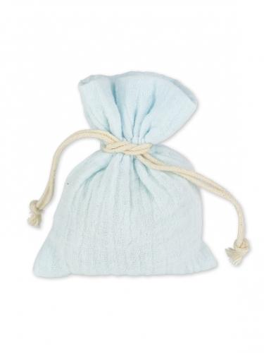 4 sacchetti in cotone celeste