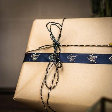 Bobina di corda blu e oro-1