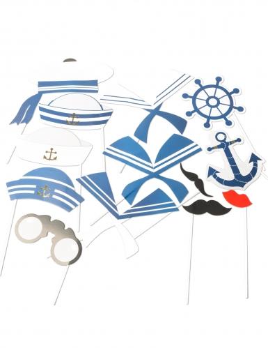 Kit 13 accessori photobooth tema marino