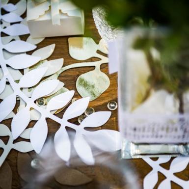6 decorazioni foglie e eucalipto bianco e oro-1