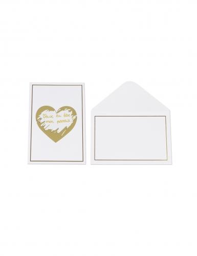 5 cartoline da grattare personalizzabili cuore oro