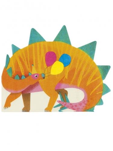 16 tovaglioli di carta dinosauro arancione