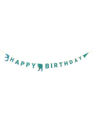 Ghirlanda dinosauri Happy Birthday