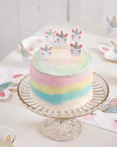5 candeline unicorno bianco e pastello-1