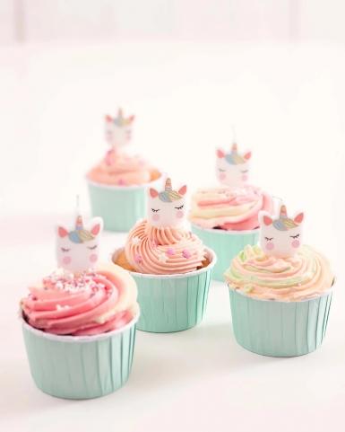 5 candeline unicorno bianco e pastello-2