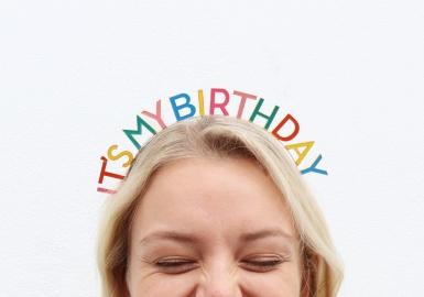 Cerchietto It's my birthday per adulto-1