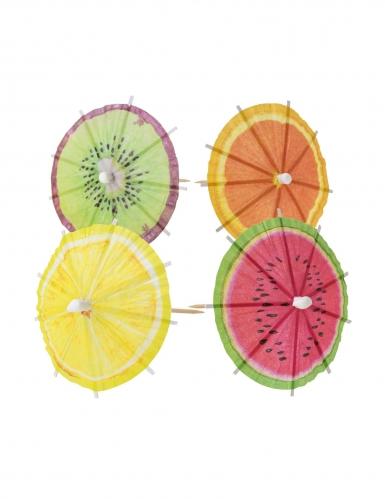 20 ombrellini frutta per cocktail