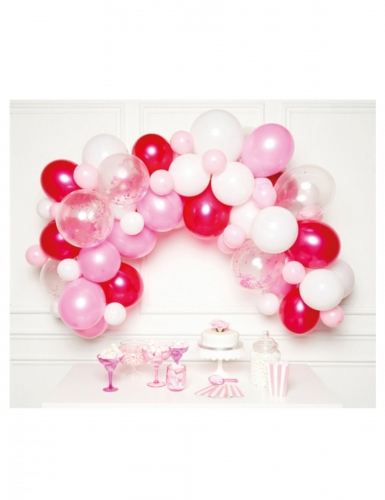 Kit arco di palloncini rosa 70 pezzi