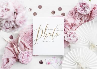 Album per foto bianco e oro-1