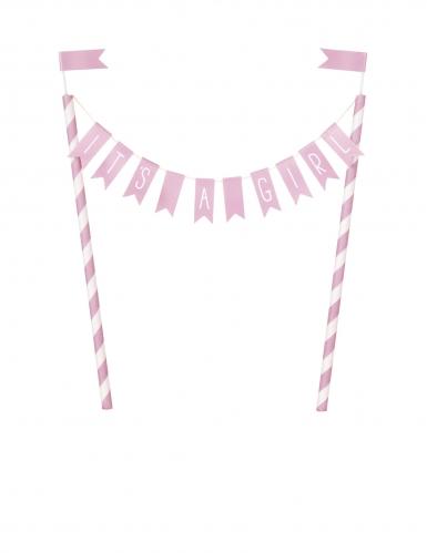 Decorazione per torta rosa It's a girl