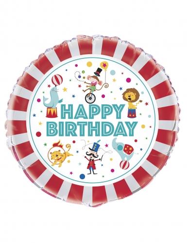 Palloncino alluminio Happy Birthday circo
