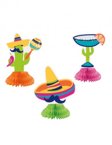 3 centrotavola in cartone stile messicano
