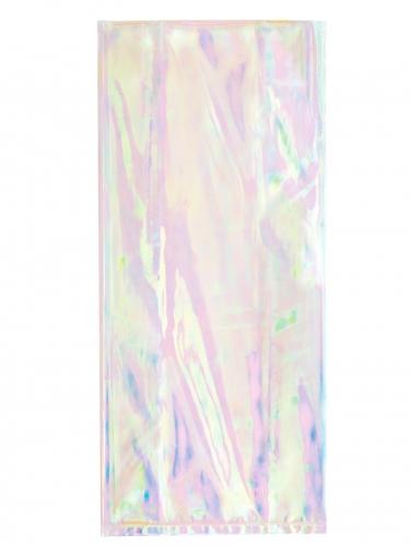 10 sacchetti in plastica iridescenti